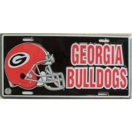 Georgia bulldogs helmet license plate for Fishing license ga walmart