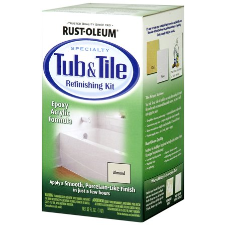 RUST-OLEUM 7861519 1 Qt. Almond Tub and Tile Refinishing Kit