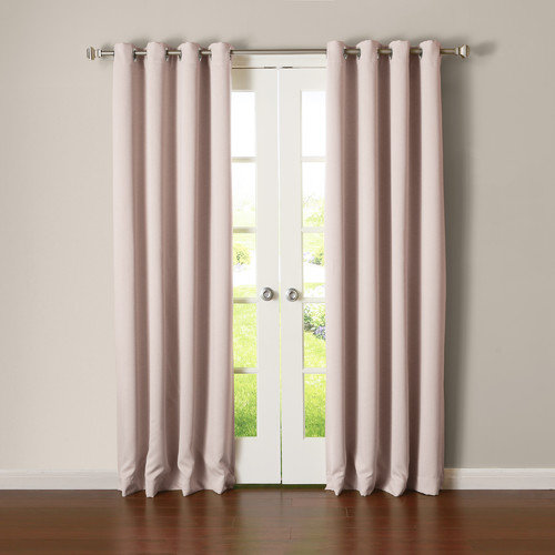 Best Home Fashion, Inc. Silver Grommet Top Thermal Insulated Blackout Curtain Panel (Set of 2)