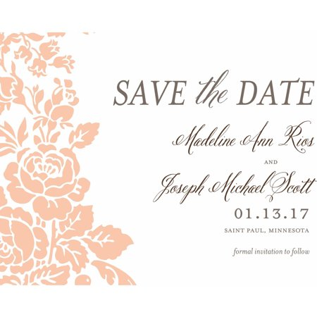 Classic Floral Standard Save the Date - Save The Date Destination Wedding