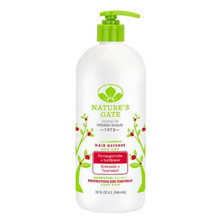 Nature's Gate Hair Defense Vegan Shampoo, Pomegranate Sunflower, 32 Fl (Natures Gate Red Shampoo)