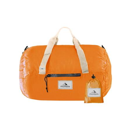Montem Otavalo Duffle Bag / Travel Bag / Packable Duffel / Overnight Bag / Weekender Bag (Orange)