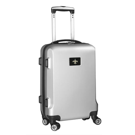 New Orleans Saints 21u0022 Hard Case 2-Tone Spinner Carry-On Luggage - Silver