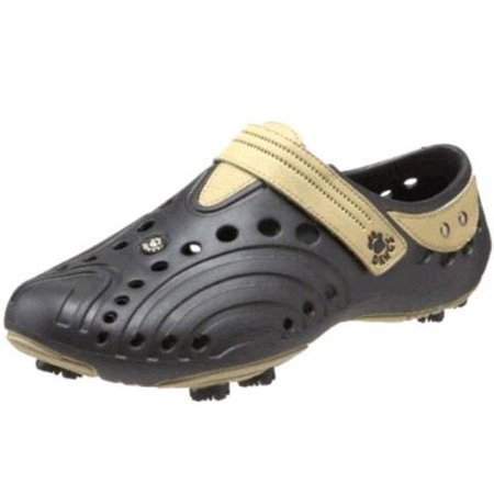 Dawgs BLACK/TAN Men's Golf Spirit Shoes - Size 8 M/D