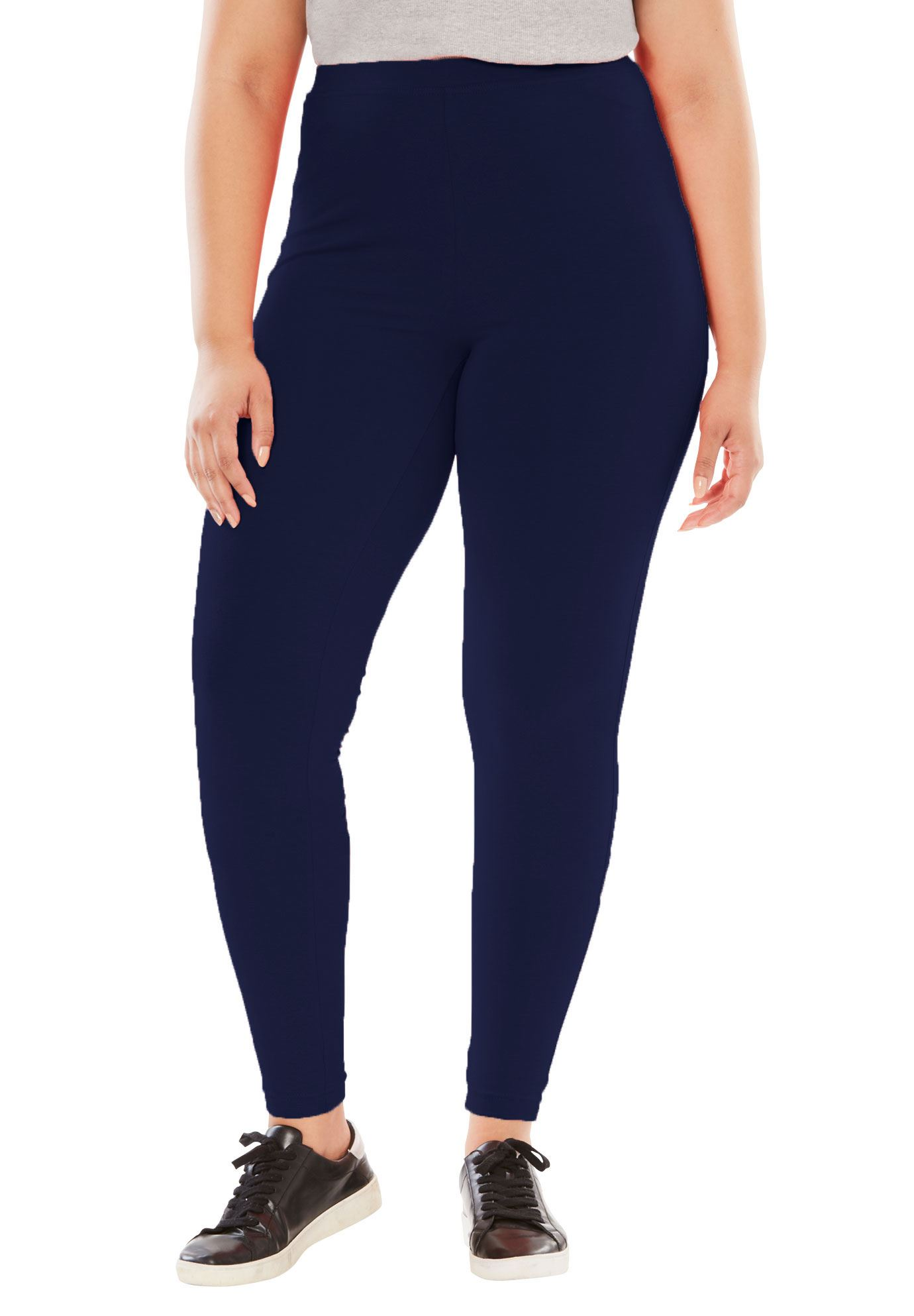 Woman Within Plus Size Tall Stretch Cotton Legging