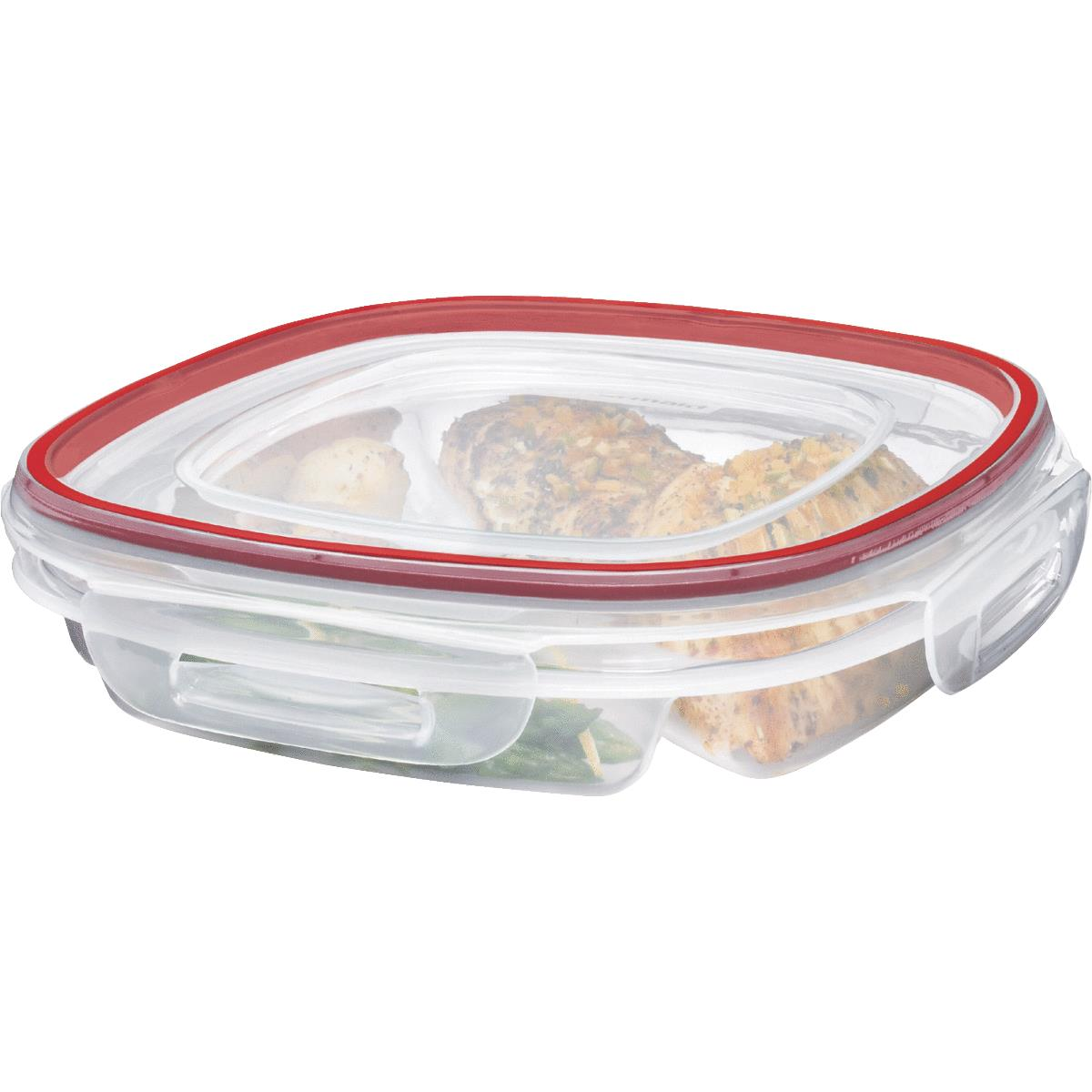 Rubbermaid Lock-its Divided Food Storage Container