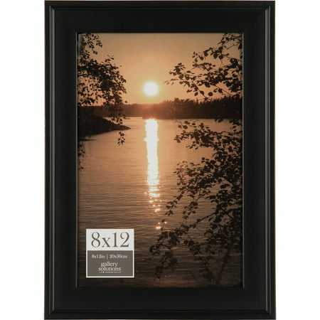 Gallery Solutions 8x12 Black Photo Frame Walmartcom