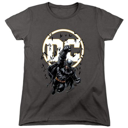 Trevco Sportswear BM2910-WT-2 Batman & Batman DC Short Sleeve Womens Tee, Charcoal - Medium - image 1 of 1