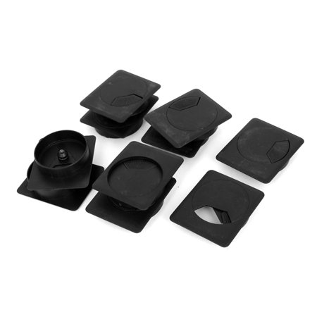 plastic computer office desk table counter cord cable wire grommets cover 10 pcs. Black Bedroom Furniture Sets. Home Design Ideas