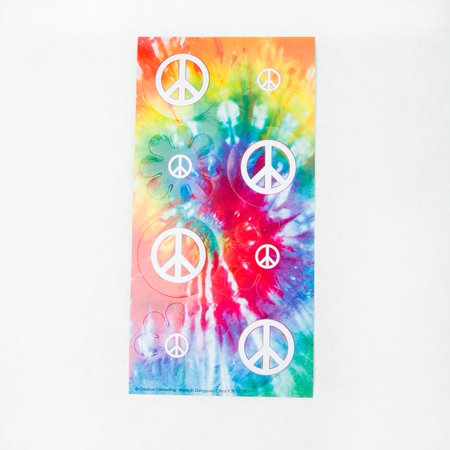 Tie Dye Peace Sign Stickers - Tie Dye Peace Sign Tattoos