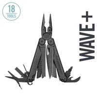 LEATHERMAN - Wave Plus Multitool with Premium Replaceable Wire Cutters and Spring-Action Scissors - Black