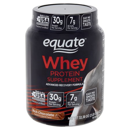 Equate Rich Chocolate Whey Protein Supplement, 32.38 (Best Protein Supplement For Crossfit)