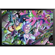 Buyartforless FRAMED Rick and Morty Chaos 36x24 Animated Cartoon TV Art Print Poster