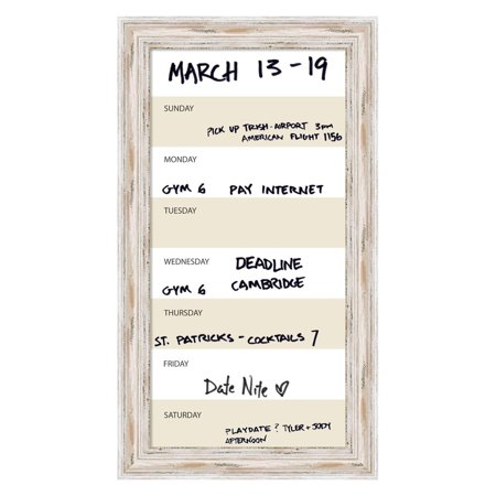 Week Calendar Framed Glass Dry Erase Board Walmart Com