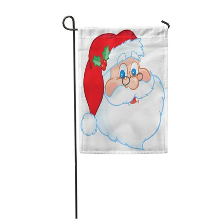 SIDONKU Red Face Classic Santa Claus Head Funny Clipart Holiday Garden Flag Decorative Flag House Banner 12x18 (Face Clipart)