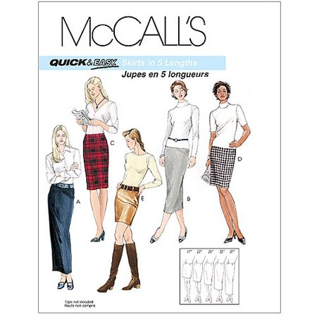 (McCall's Pattern Misses' Skirts in 5 Lengths, DD (12, 14, 16, 18))