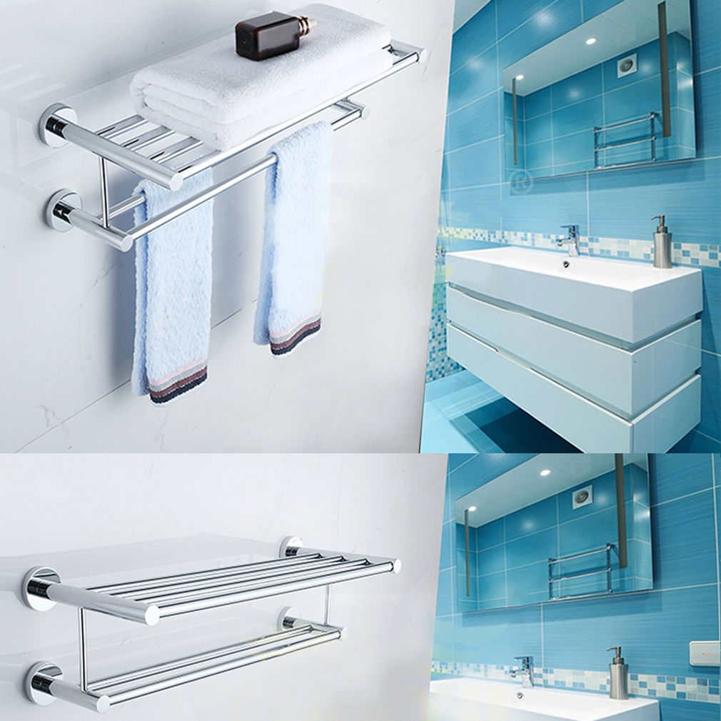 Modern Stainless Steel Wall Mounted Towel Rack Towel Bar Rack ...