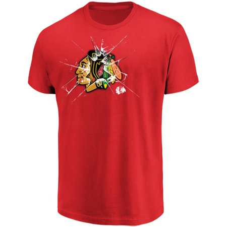 Men's Majestic Red Chicago Blackhawks Poke Check T-Shirt