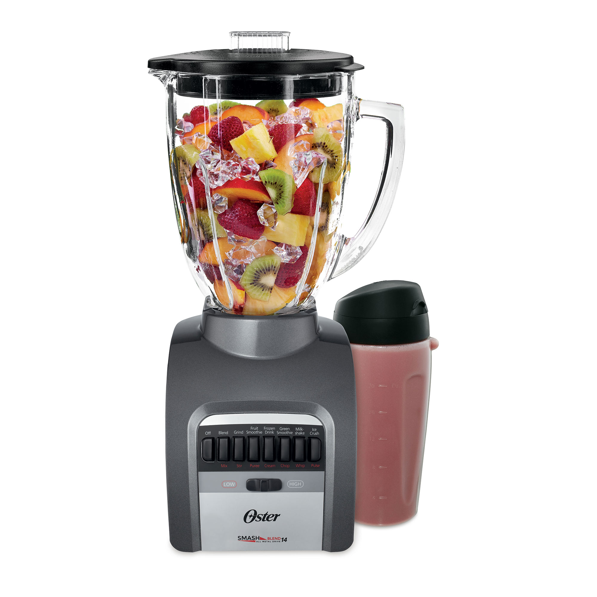 Oster Smash Blend 300 Blender with Smoothie Cup, 14 Speed (BLSTTG-PGP-BG3)