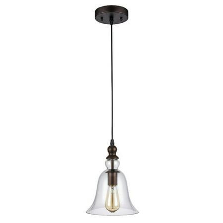 - CHLOE Lighting MANETTE Industrial-style 1 Light Rubbed Bronze Ceiling Mini Pendant 8
