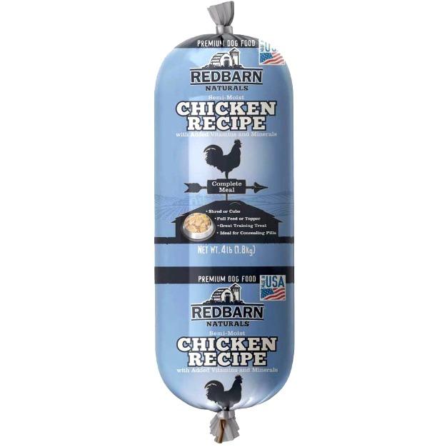 Redbarn Naturals Chicken Wet Dog Food Roll, 4 Lb