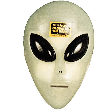 Glow-in-the-Dark Alien Mask Adult Halloween Accessory](Alien Movie Mask)