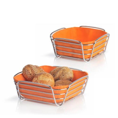 Floz Design Blomus 63554 Bread Basket, Wires, Large, Orange