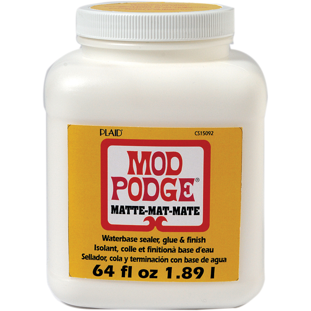 Mod Podge Matte, Glue, Sealer and Finish for Decoupage by Plaid, 64 oz.