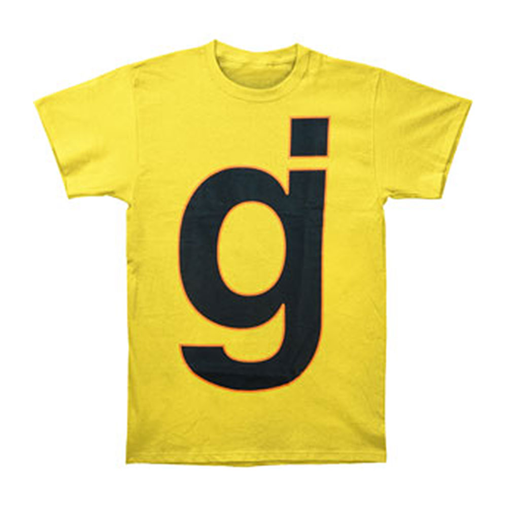 Glassjaw Men's  Outline On Yellow T-shirt Yellow