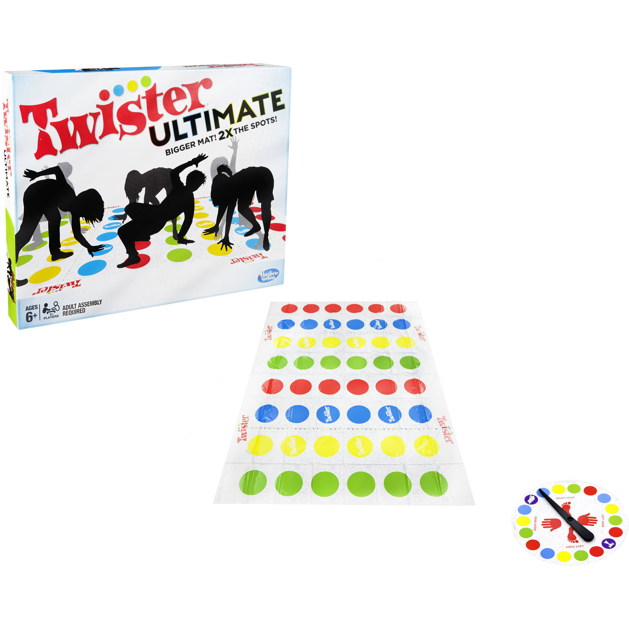Twister Ultimate Bigger Mat More Colored Spots Family Party Game