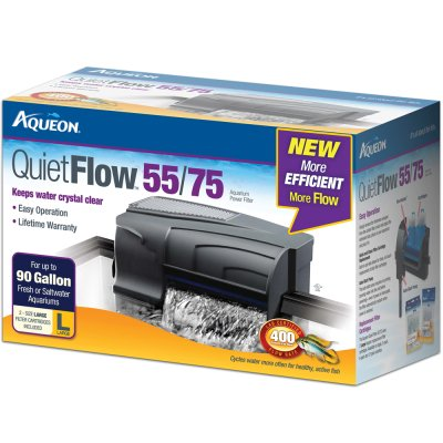 - Aqueon QuietFlow 55/75 Aquarium Power Filter