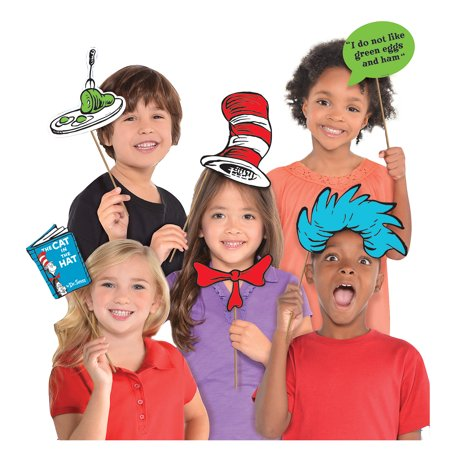 Usc Party Supplies (Costumes USA Dr. Seuss Photo Booth Props, Birthday Party Supplies, 13)