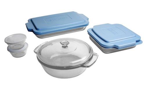 "Anchor 10 Piece Bake Set 3 Quart Baking Dish, 2 Quart Casserole, 8"" Length X 8"" Width Baking Dish,... by Anchor Hawking"