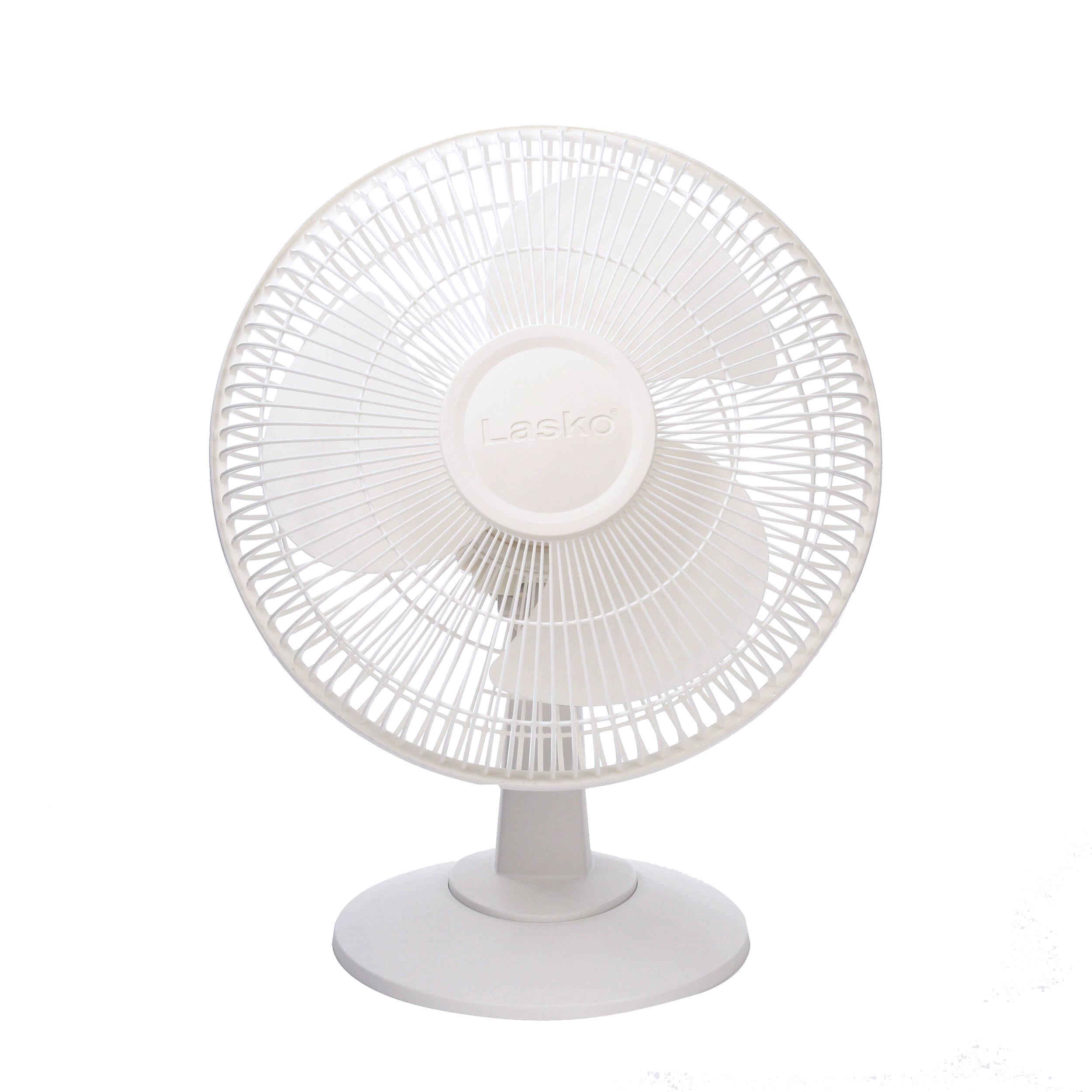 """Lasko 12"""" Table 3-Speed Fan, Model #2012, White"""
