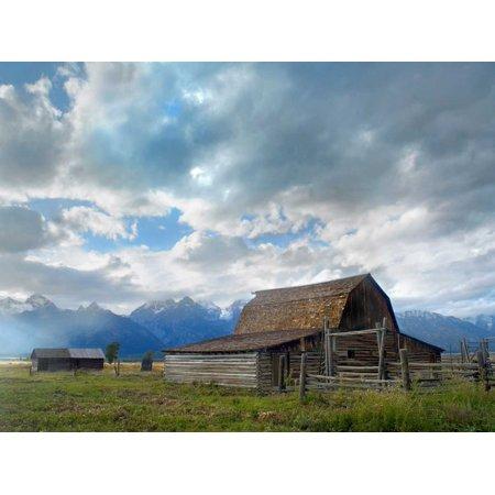 Mormon row barn Grand Teton National Park Wyoming Poster Print by Tim