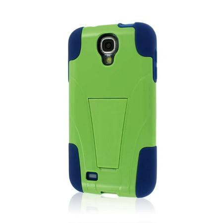 MPERO IMPACT X Series Kickstand Case for Samsung Galaxy S4 / GS4 I905 L720 I337 - Blue / Green (Samsung I337)