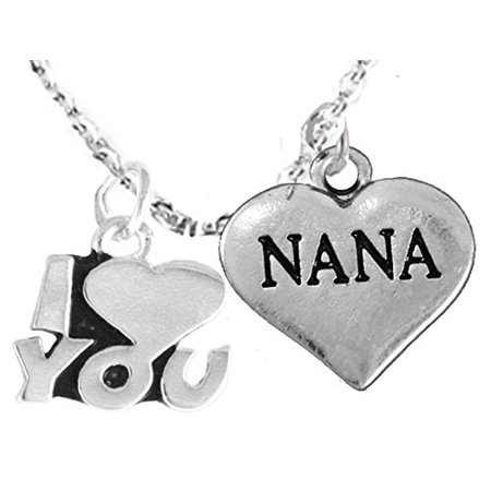 Nana I Love You Adjustable Curb Chain Necklace, Hypoallergenic, Safe-Nickel, Lead, Cadmium Free