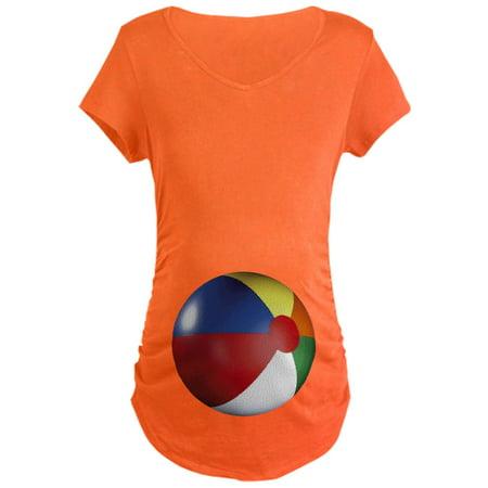 0470ce68ec20a CafePress - CafePress - Beach Ball Maternity Dark T Shirt - Maternity Dark  T-Shirt - Walmart.com