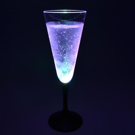 GlowCity Cool Light up Flashing LED Multi Colored Champagne Glasses](Glasses That Light Up)