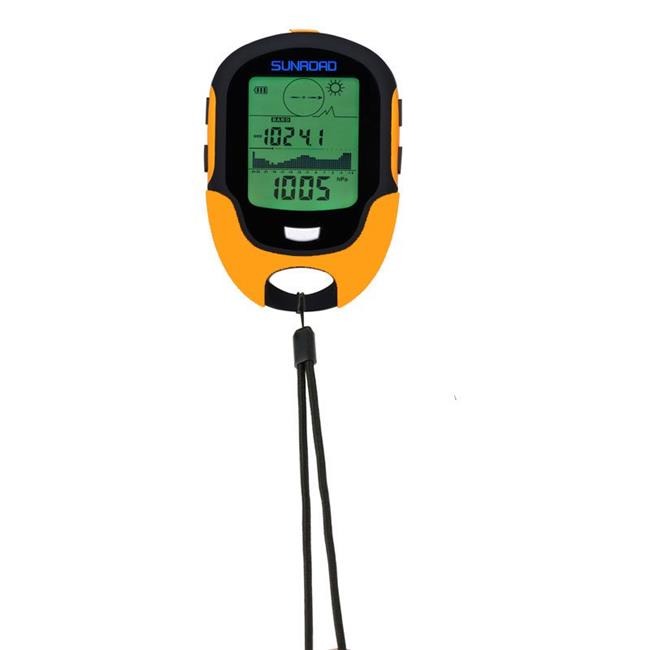 Sunroad FR500 Military Digital Altimeter Barometer Watch Thermometer, Orange by SUNROAD
