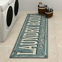 "Ottomanson Laundry Collection Non-Slip Laundry Mat Runner Rug, 20"" x 59"""
