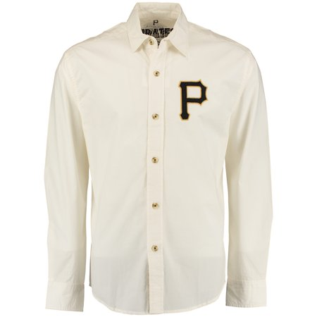 Pittsburgh Pirates Red Jacket Knickerbocker Woven Long Sleeve Button-Up Shirt - Natural