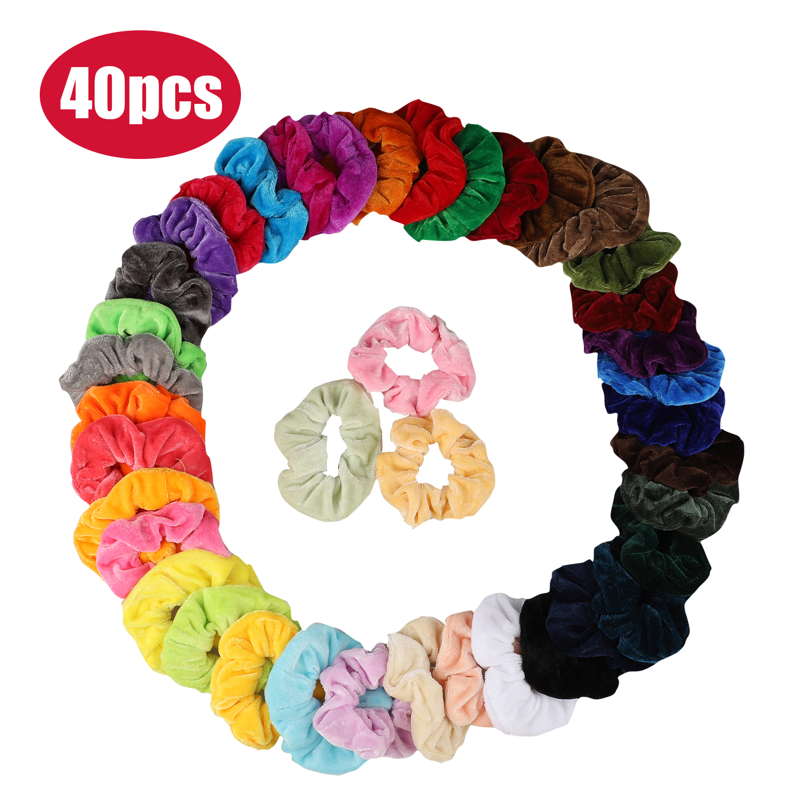 PACK OF 100 ASSORTED COLOURS GIRLS TODDLER KIDS ELASTIC HAIR BANDS BOBBLES DECRO