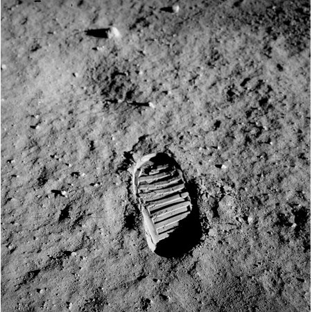 LAMINATED POSTER Buzz Aldrin Trace Footprint Apollo 11 Lunar Surface Poster Print 24 x - Apollo 18 Poster