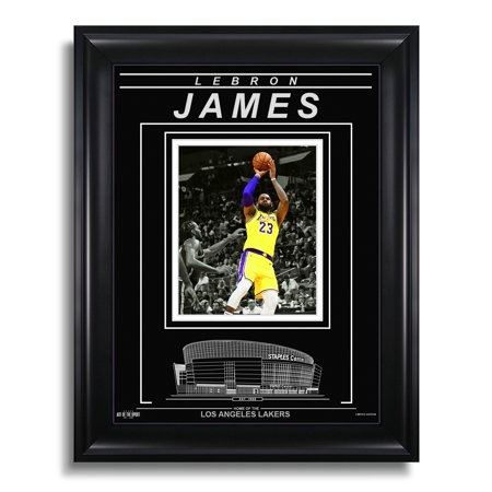 LeBron James Los Angeles Lakers Engraved Framed Photo - Action Spotlight - image 2 of 2