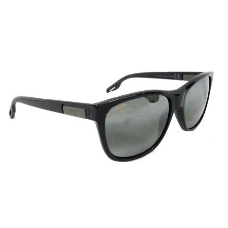 d1b416c2b9bf Maui Jim - Maui Jim Howzit 734-02 Gloss Black Frame Neutral Grey ...