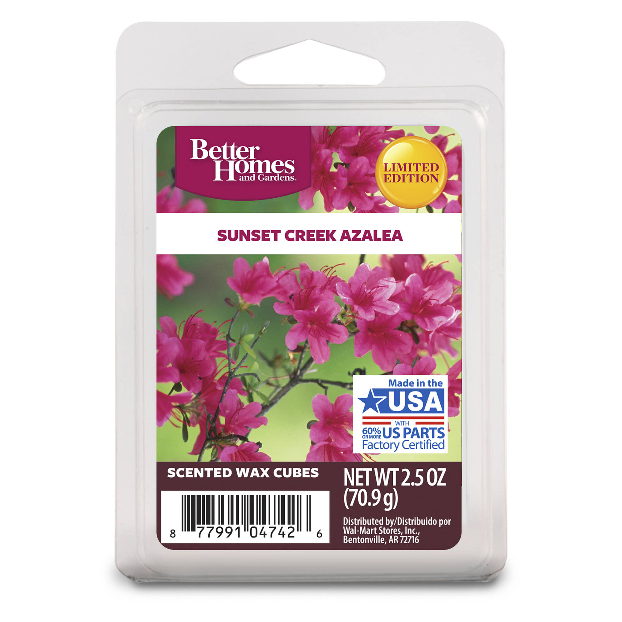 Better Homes and Gardens Wax Cubes, Sunset Creek Azalea