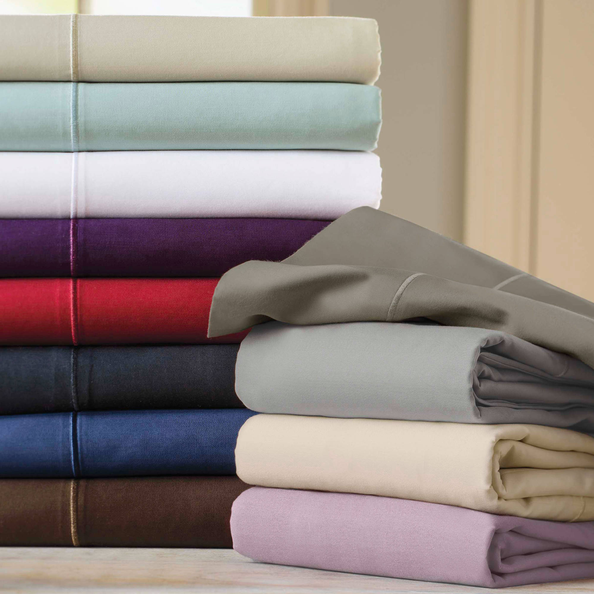 Better Homes and Gardens 400 Thread Count Egyptian Cotton Pillowcase Set - Walmart.com & Better Homes and Gardens 400 Thread Count Egyptian Cotton ...