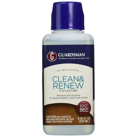 Guardsman Clean & Renew For Leather 8.45 oz - Removes Dirt and Grime, Great For Leather Furniture & Car Interiors - 470800 (Best Way To Clean Leather Furniture)