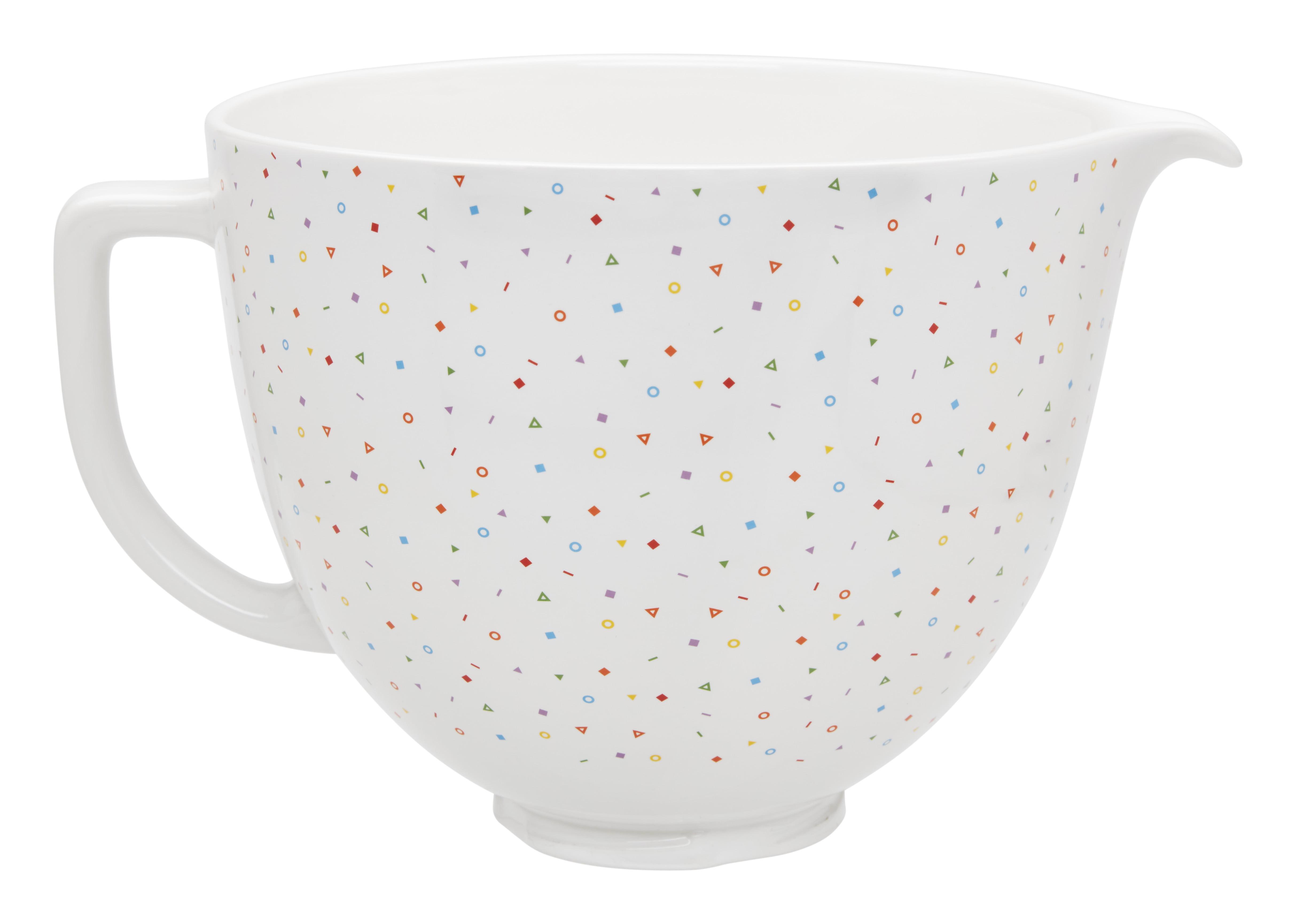 Kitchenaid 174 5 Quart Confetti Sprinkle Ceramic Bowl